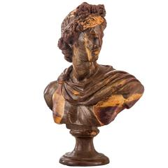 An Unusual Composition Bust of Apollo