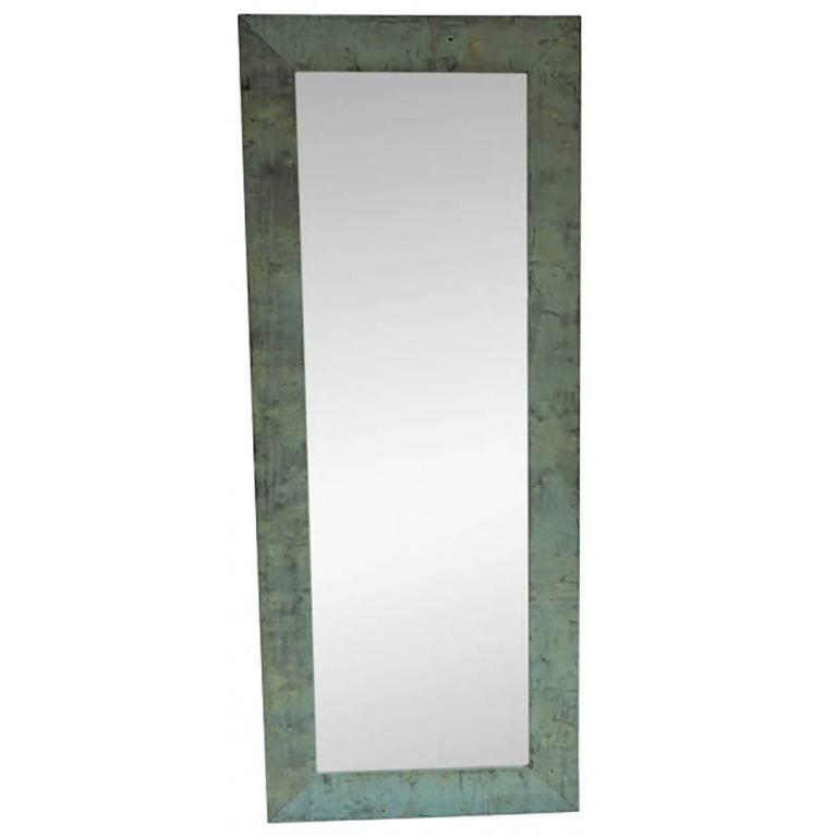 Patinated Copper Frame Full Length Mirror