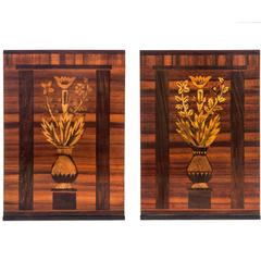 Carl Malmsten, Pair of Swedish Grace Period Marquetry Bookends