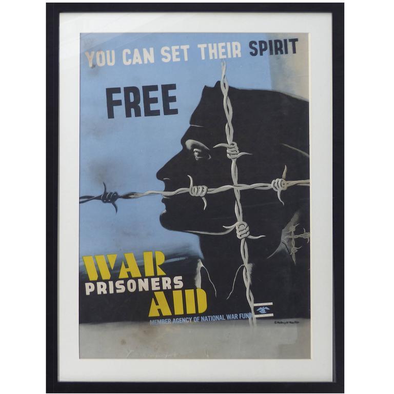 Art Deco War Poster by McKnight Kauffer For Sale