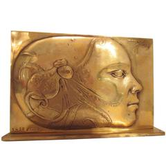 Brass Sclupture by Pierre-Yves Trémois, Signed and Numbered