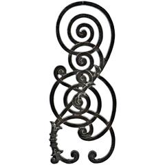 19th Century Cast Irons Staircase Baluster from the Kansas City Board of Trade