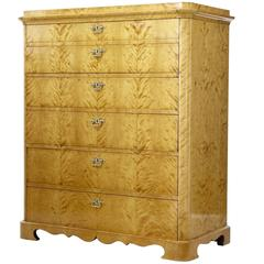 Fine Quality 19th Century Birch Tallboy Chest of Drawers