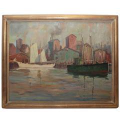 "J.J. Enwright C. Hjalmar ""Cappy"" Amundsen"" Painting"