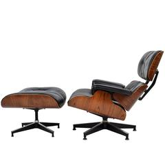 1960s Herman Miller Rosewood Lounge and Ottoman by Charles and Ray Eames