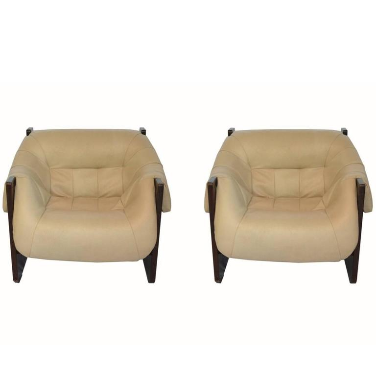 Pair of Lounge Chairs in Rosewood by Percival Lafer