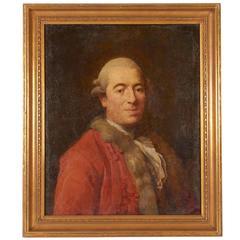 Portrait of 18th Century Man in Red Coat