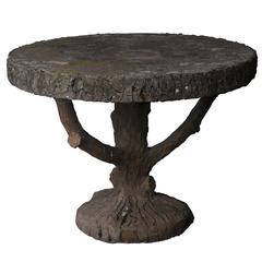 Antique Faux Bois Table