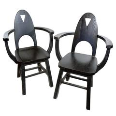 Limbert Style Arts and Crafts Armchairs