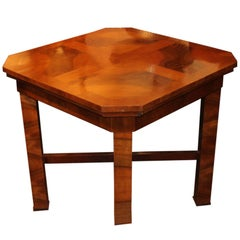 1930s Hungarian Square Walnut Card Table