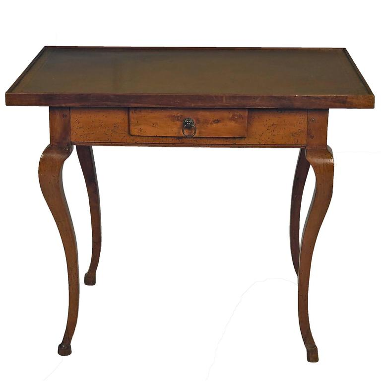 Italian Leather Top Writing Table, circa 1870 For Sale