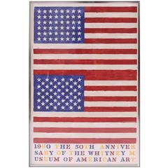 after Jasper Johns, The 50th Anniversary of the Whitney Museum of American Art