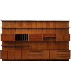 Beautiful 1960s Danish Poul Cadovius Teak Wall Unit by Cado, Shelving System