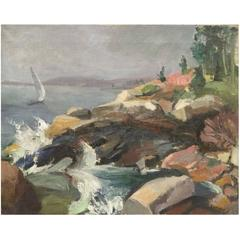 Francis Speight, 'Summer in Maine', Oil on Canvas, Signed