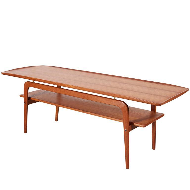 Danish Coffee Table with Shelf 1