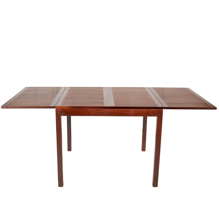 Rosewood Drop Leaf Dining Table by Kai Winding 1