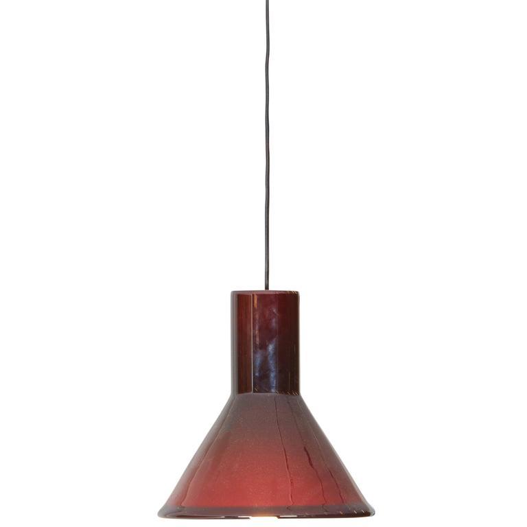 Michael Bang Red Pendant Lamp For Sale