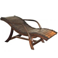 Primitive Style Wood Lounge