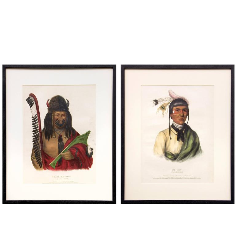 Two Antique McKenney & Hall Prints