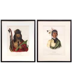 Two Antique McKenney & Hall Prints