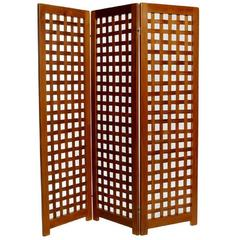 Danish Teak Folding Screen