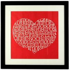 International Heart by Alexander Girard, Framed