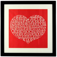 International Heart by Alexander Girard, Framed