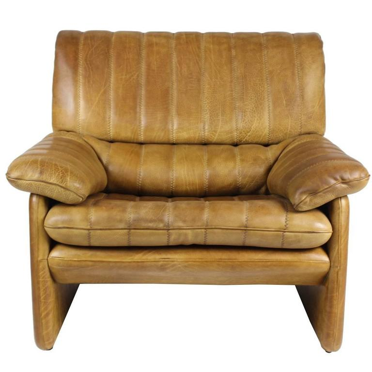 1970s De Sede Leather Armchair, Exclusive Edition