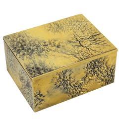 Gilt Sterling Silver Keepsake Holder Box Retailed by Tiffany & Co.