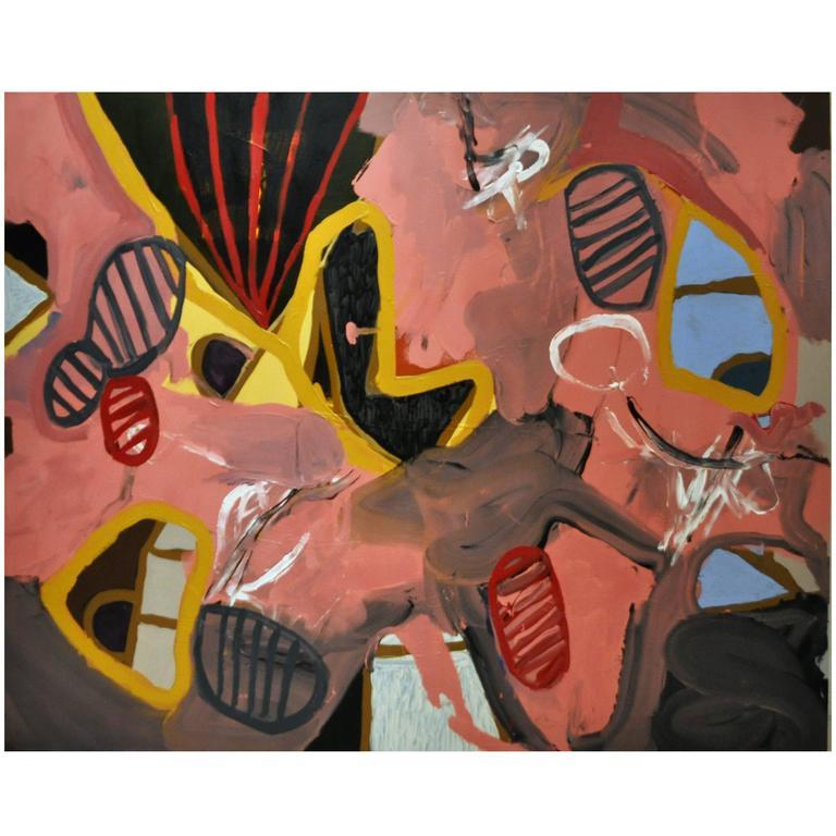 Mixed-Media Abstract Painting by John Luckett