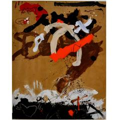 Abstract Mixed-Media Painting by Taira
