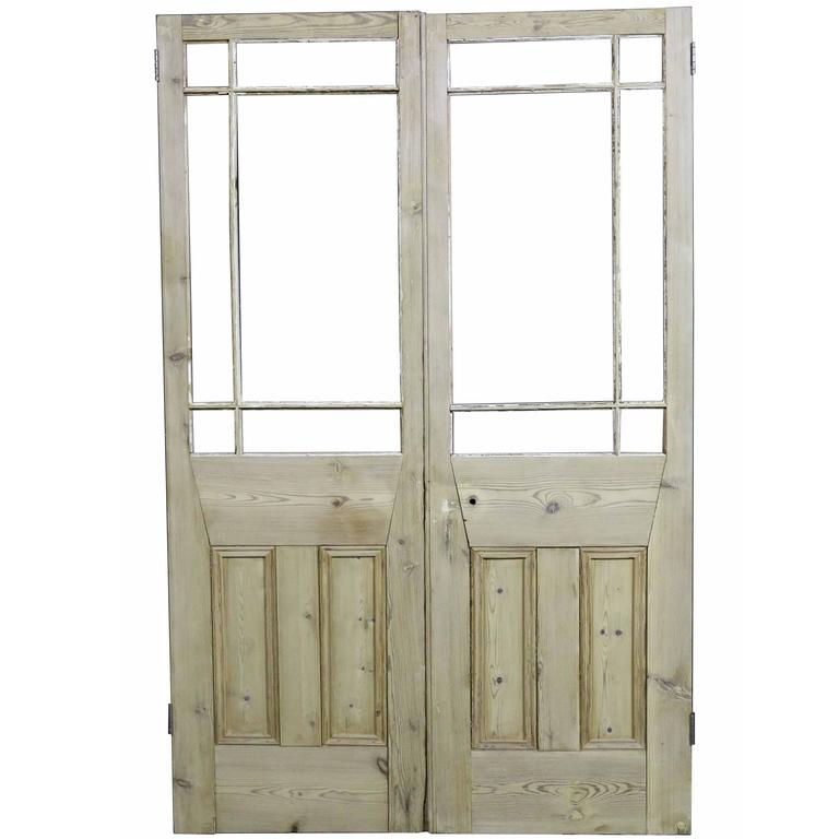 Pair of late 19th century margin glazed french double for Double french doors for sale