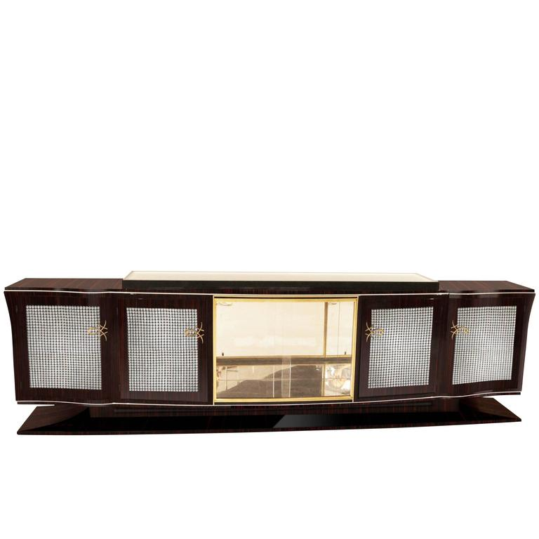 annjoules xxl art deco sideboard made of macassar for sale at 1stdibs. Black Bedroom Furniture Sets. Home Design Ideas