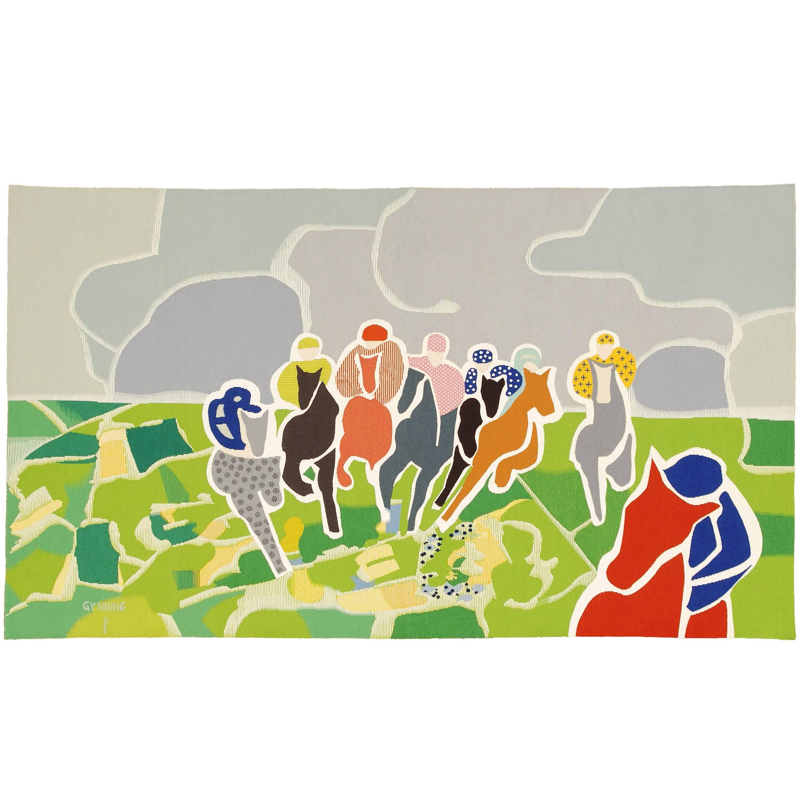 """The Winner"", Swedish Wall Hanging, Lars Gynning, Pinton Frères,1960"