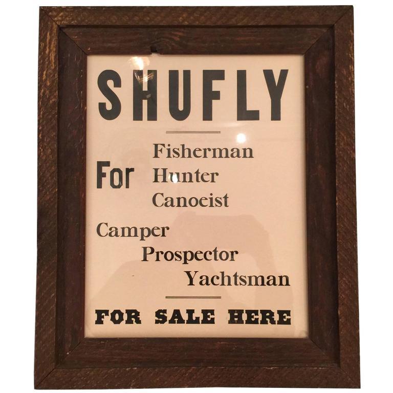 Vintage Framed Shufly Poster 1
