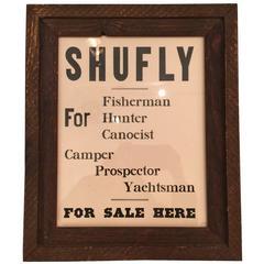Vintage Framed Shufly Poster