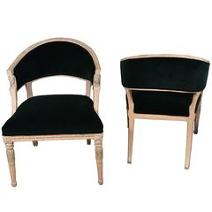 Swedish Gustavian Barrel Back Chairs