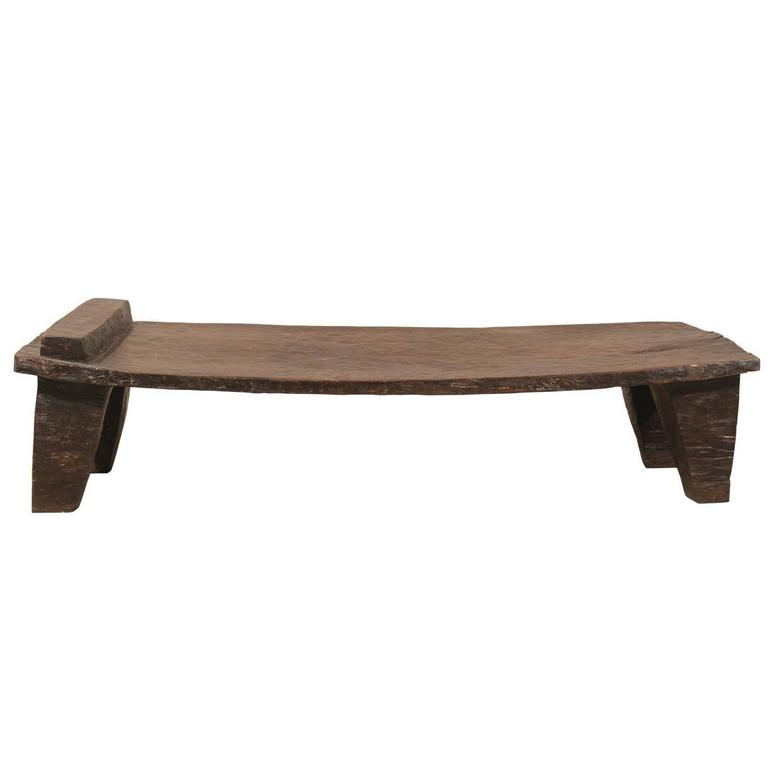 ethnic / rustic primitive naga wood indian coffee table from