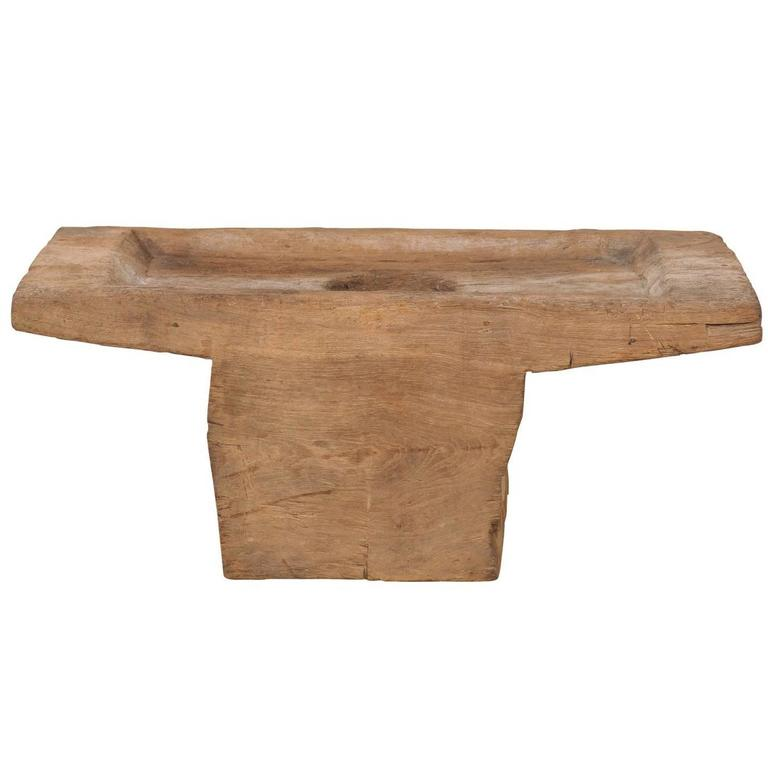 Rustic Indonesian Grain Grinder From The Early 20th Century Made Coffee Table For Sale At 1stdibs