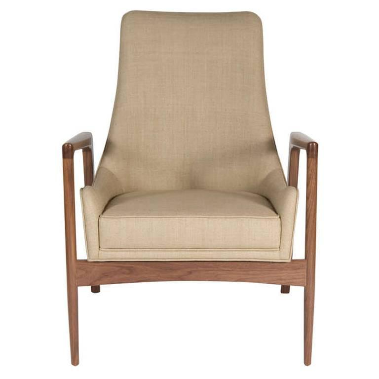 Warren Walnut Lounge Chair