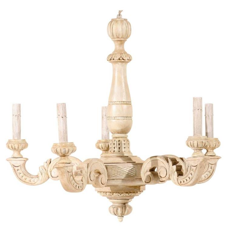 French five light beige and cream colored chandelier for sale at 1stdibs french five light beige and cream colored chandelier for sale aloadofball Choice Image