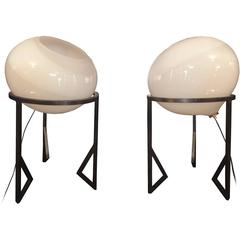 """Pair of """"Onion"""" Table Lamps by Vistosi"""