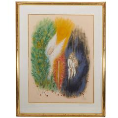 Reuven Rubin, 'Adam and Eve', Lithograph, Signed