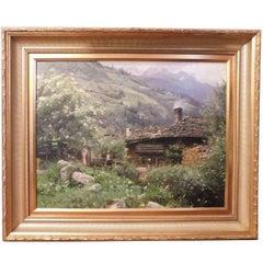 Peder Mork Mønsted, Oil Painting 'Gastein', 1912