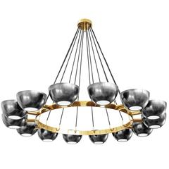 Custom Chandelier in the Style of Stilnovo