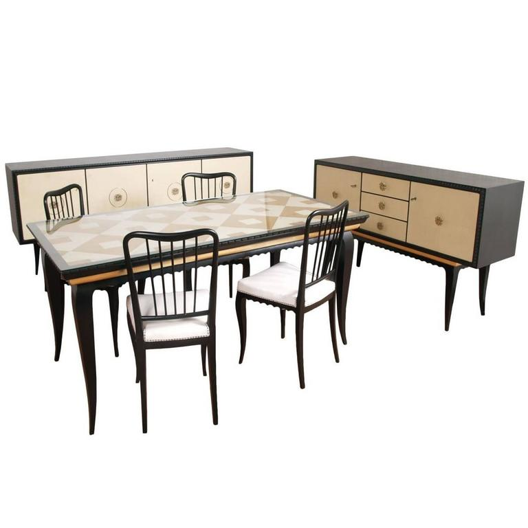 Mid century modern dining room furniture sets by paolo for Modern dining room chairs for sale
