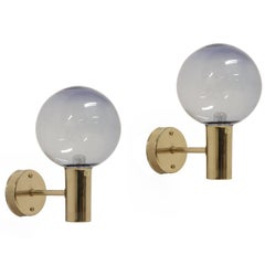 Pair of Scandinavian Mid-Century Wall Lights by Hans-Agne Jakobsson, 1960s