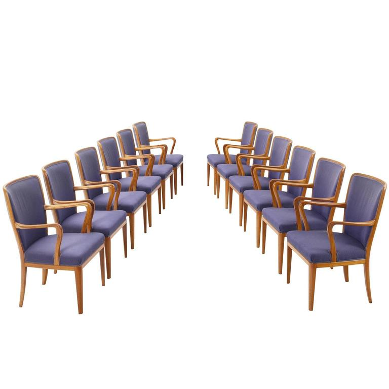 Carl Malmsten Set of 12 Dining Chairs