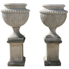 Early 20th Century, Italian Garden Limestone Urns