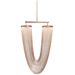 Otero Small Chandelier In Aged Copper with Copper Chains by Larose Guyon